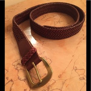 Men's' Polo Ralph Lauren Braided Leather Belt